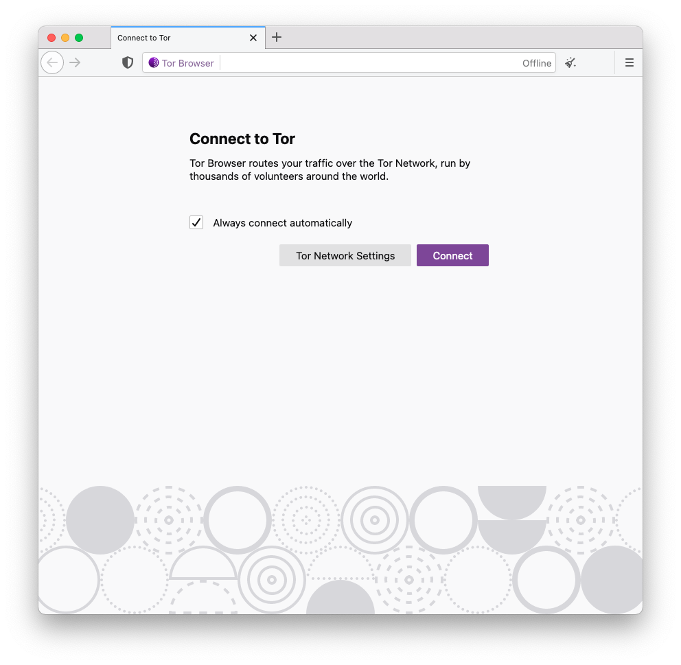 Tor Browser 10.5 about:connect