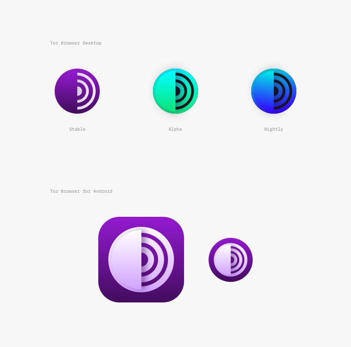 Tor Browser icons