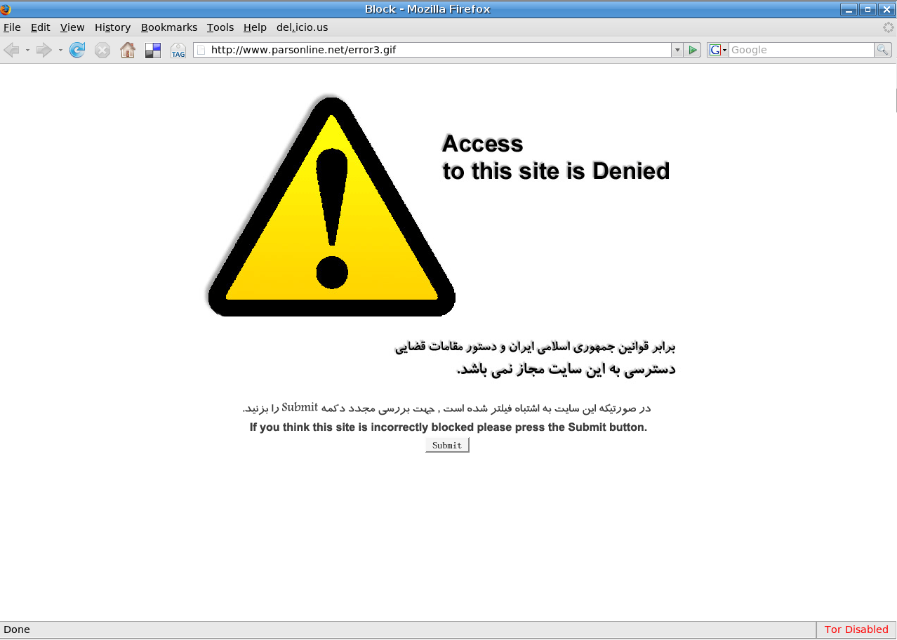 Internet Censorship in Iran: Findings from 2014-2017 | Tor Blog